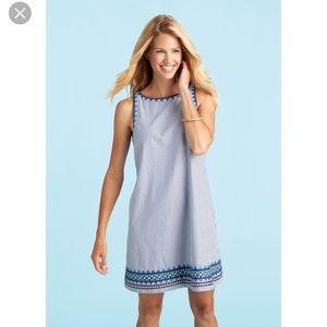 NWT Vineyard vines striped blue dress.